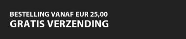 Bestelling vanaf EUR 25,00 gratis verzending