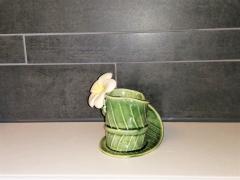 Keramiek bekertje blad vorm_bloem bovenste