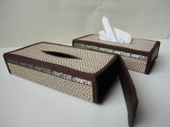 Tissuebox houder riet_laag model