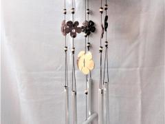 Kokosnoot windgong 6-lijn bloemen
