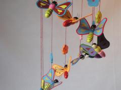 Mobiel spiraal vlinders