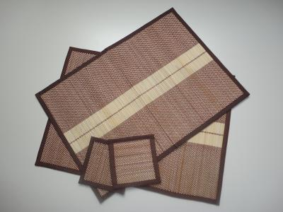 Placemats en onderzetters bamboe set 2